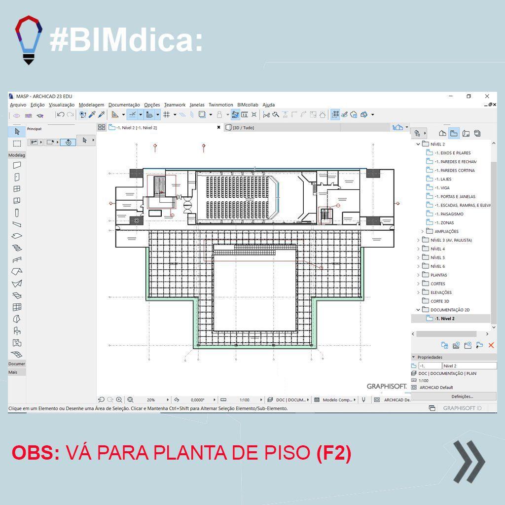 Fonte: SpBIM | Archicad | Selecionar e isolar em 3D no Archicad | Figura 2