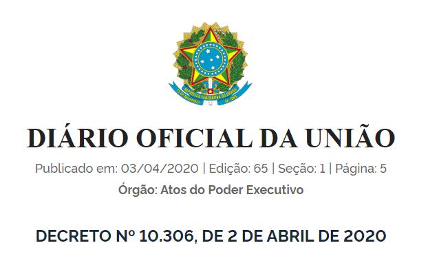DECRETO BIM nº10.306 de 2020
