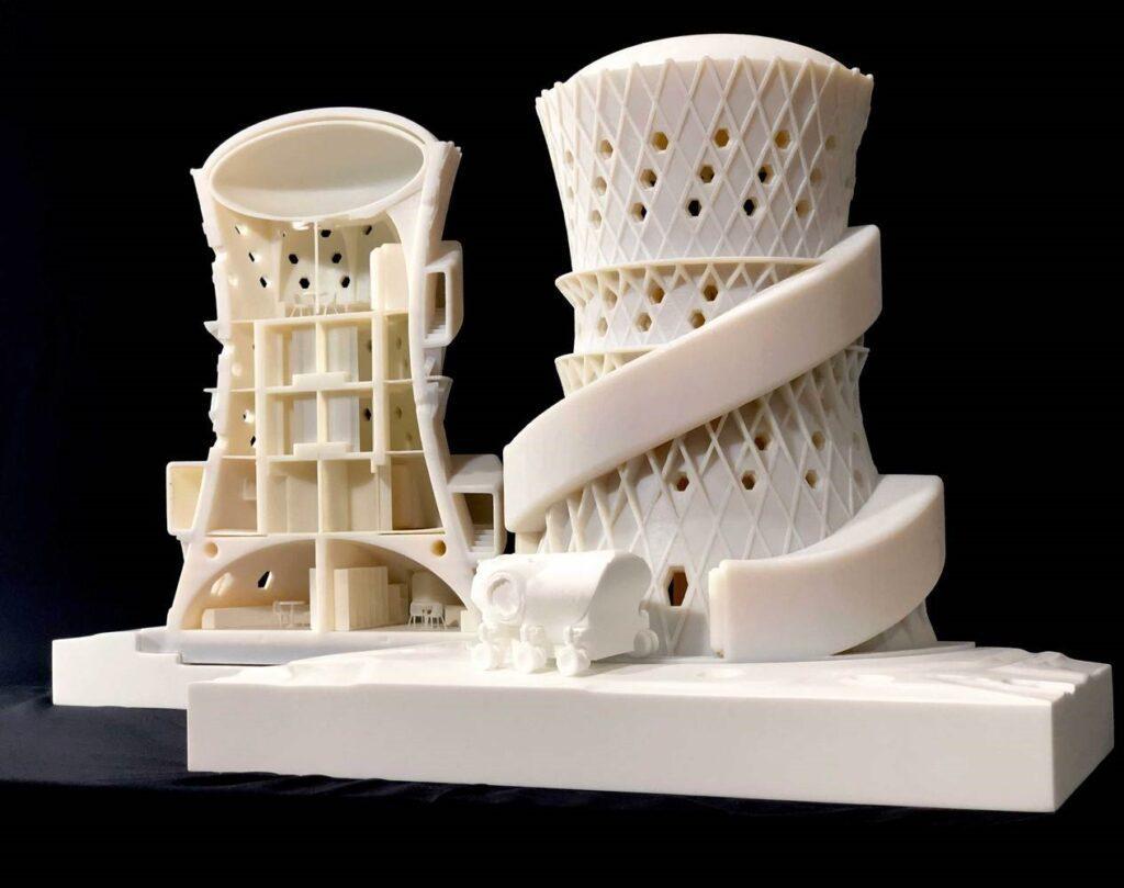 Protótipo da habitação vencedora do concurso 3D-Printed Habitat-Nasa